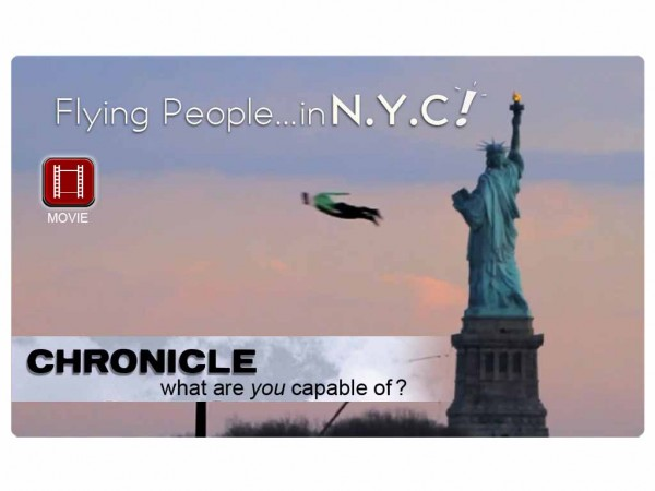 "Look, up in the sky! Its a bird…its a PLANE?! Nope, its a promo for ""Chronicle"""