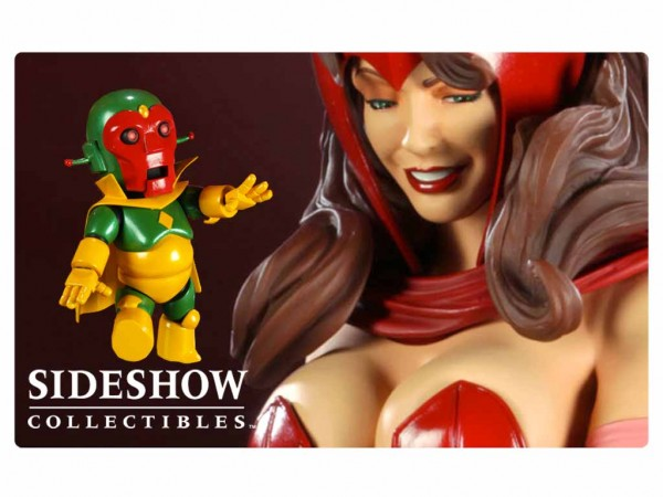 "Sideshow Collectibles puts a ""Hex"" on us with The Scarlet Witch and Vision Comiquette"