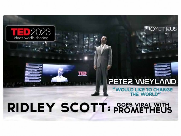 Prometheus Video &#8211; Peter Weyland at TED TALKS 2023