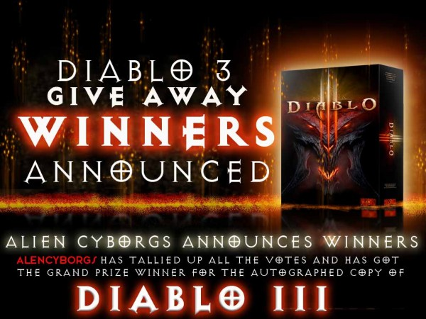 AlienCyborgs Announces Giveaway Winners