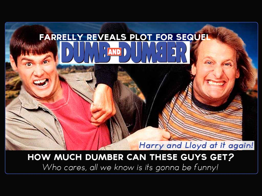 Farrelly Brother reveals plot for Dumb and Dumber Sequel