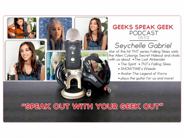 "Seychelle Gabriel from TNT's ""Falling Skies"" visits with Alien Cyborgs to chat!"
