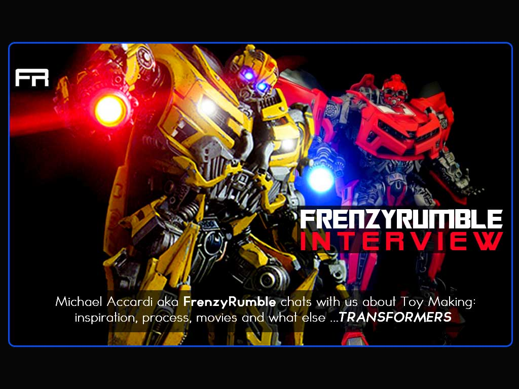 "Interview: Custom Toy Maker ""FrenzyRumble"" talks toys!"