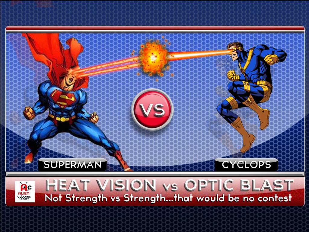 Alien Cyborgs VERSUS : Heat Vision vs Optic Blast