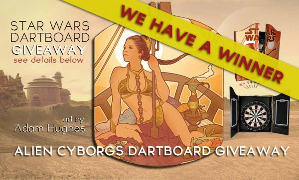 """Last Daughter Of Alderaan"" Dartboard Giveaway Winner"