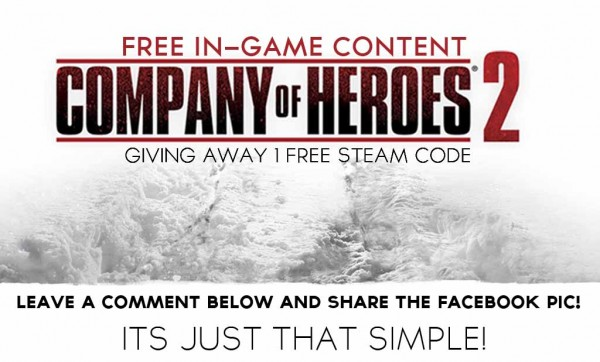 GIVEAWAY: COMPANY of HEROES 2, Free In-game Content