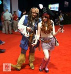 Alien Cyborgs_Disney D23 Fan Expo_Cosplay_Capt Sparrow and friend
