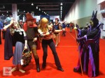 Alien Cyborgs_Disney D23 Fan Expo_Cosplay_ Aurora, Philip and Pepper Potts vs Maleficent