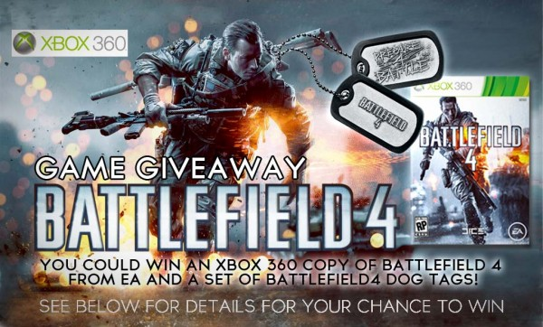 BATTLEFIELD 4 XBOX 360 GIVEAWAY
