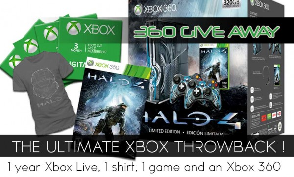 XBOX 360  HALO 4 THROW BACK GIVE AWAY!